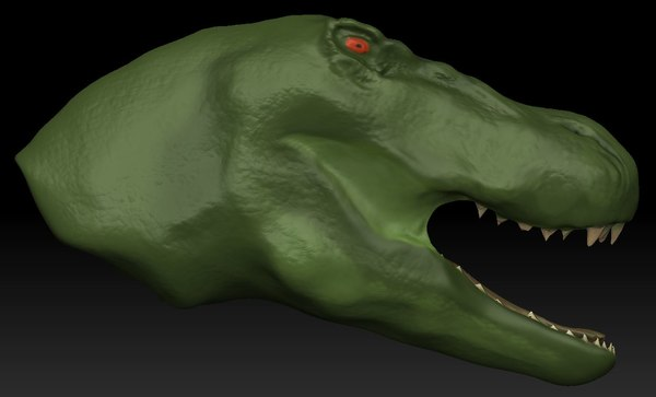 t-rex dinosaur head 3d model