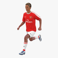 Soccer Player Arsenal Rigged 2 3D Model