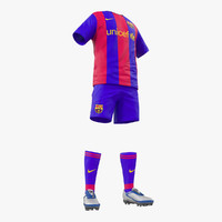 Soccer Clothes Barcelona 3D Model