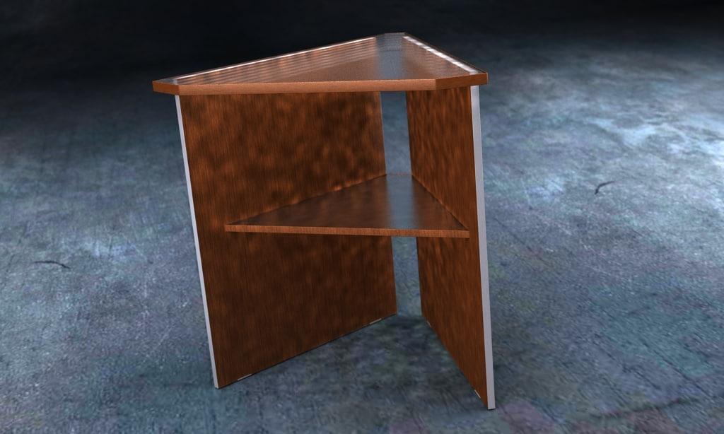 3d nordsk divve corner table model