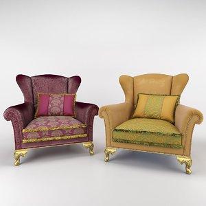 bruno zampa alexander armchair 3ds