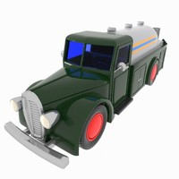 cartoon vintage tank 3d 3ds
