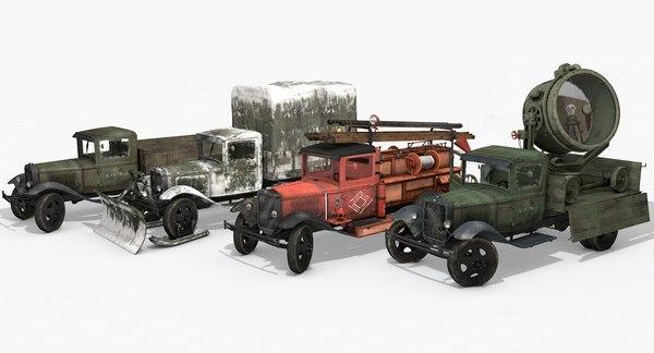 3dsmax vehicles gaz-aa