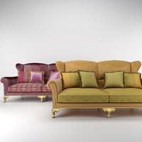 bruno zampa alexander sofa 3d 3ds