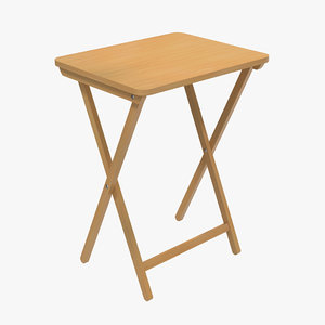 3d model tv folding table modeled