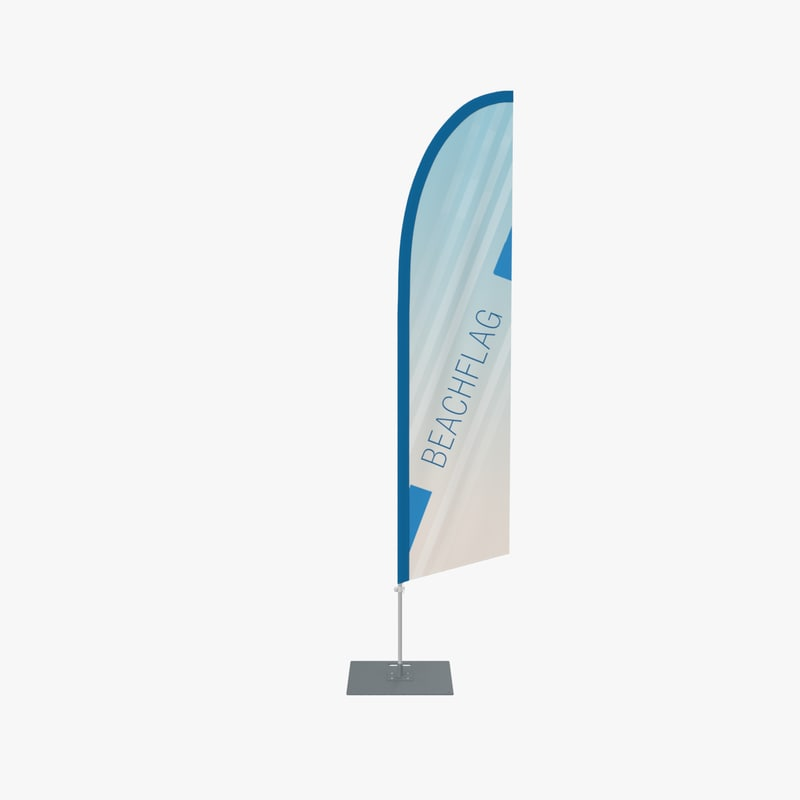 3d model beach flag