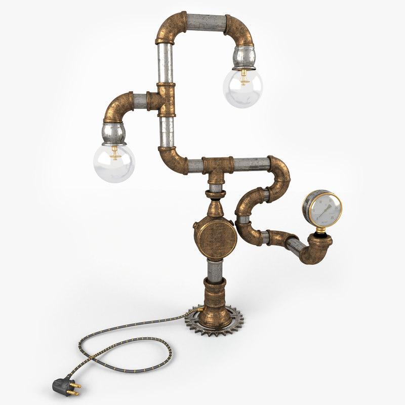 lamp steampunk max