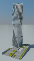 evolution tower skyscraper 3d model