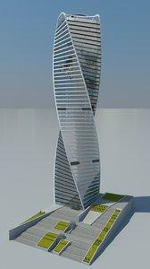 evolution tower skyscraper 3d model