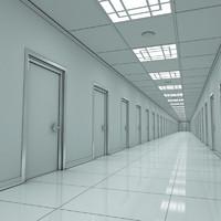 modern hallway 3d model