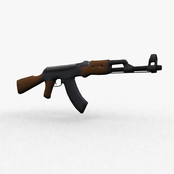 free kalashnikov 3d model