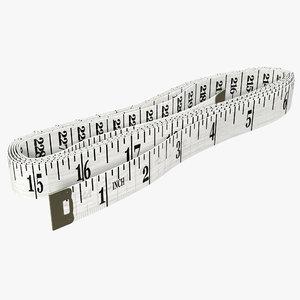 white tailor meter modeled 3d model