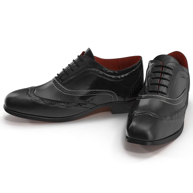 3dsmax wingtip shoes 2
