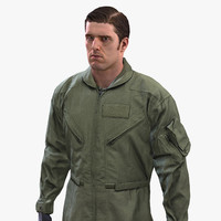 pilot flight suit army soldier 3d model