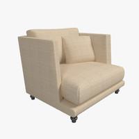 3dsmax nube italia armchair