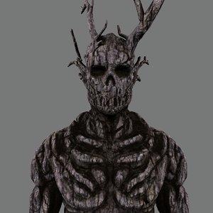 wooden monster 3d c4d