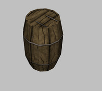 Low Poly Barrel