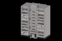 9 floor brick tenement 3d 3ds
