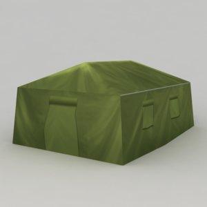 green military tent 3d model