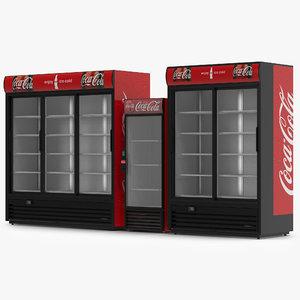 3d model coca cola refrigerators modeled