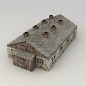 city building barrack 3d model