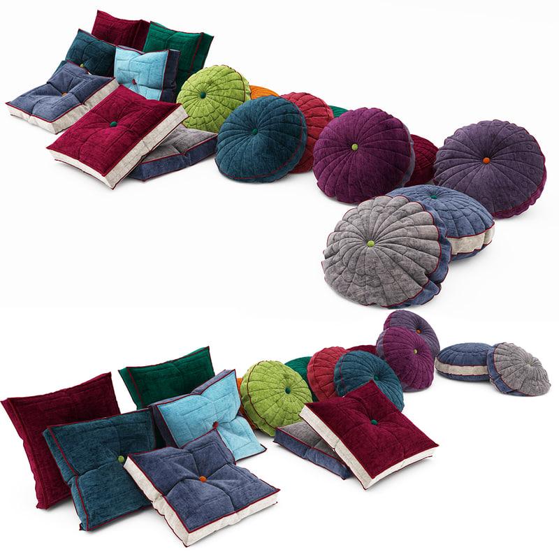 3d model pillows 03