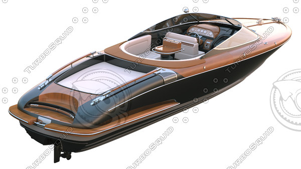 obj luxury speed boat