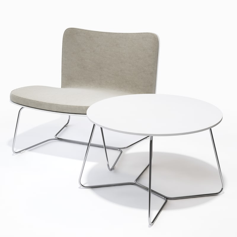 viteo - slim table chair 3d model