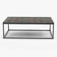 Restoration Hardware Metall Parquet Coffee Table