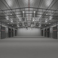 warehouse building interior 3d 3ds