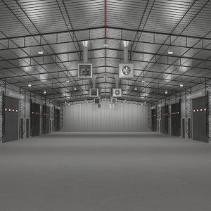 3d model warehouse building interior