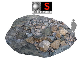 maya rock ground scan hd