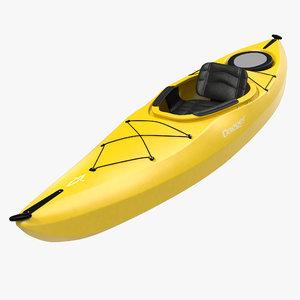 kayak yellow modeled 3d model
