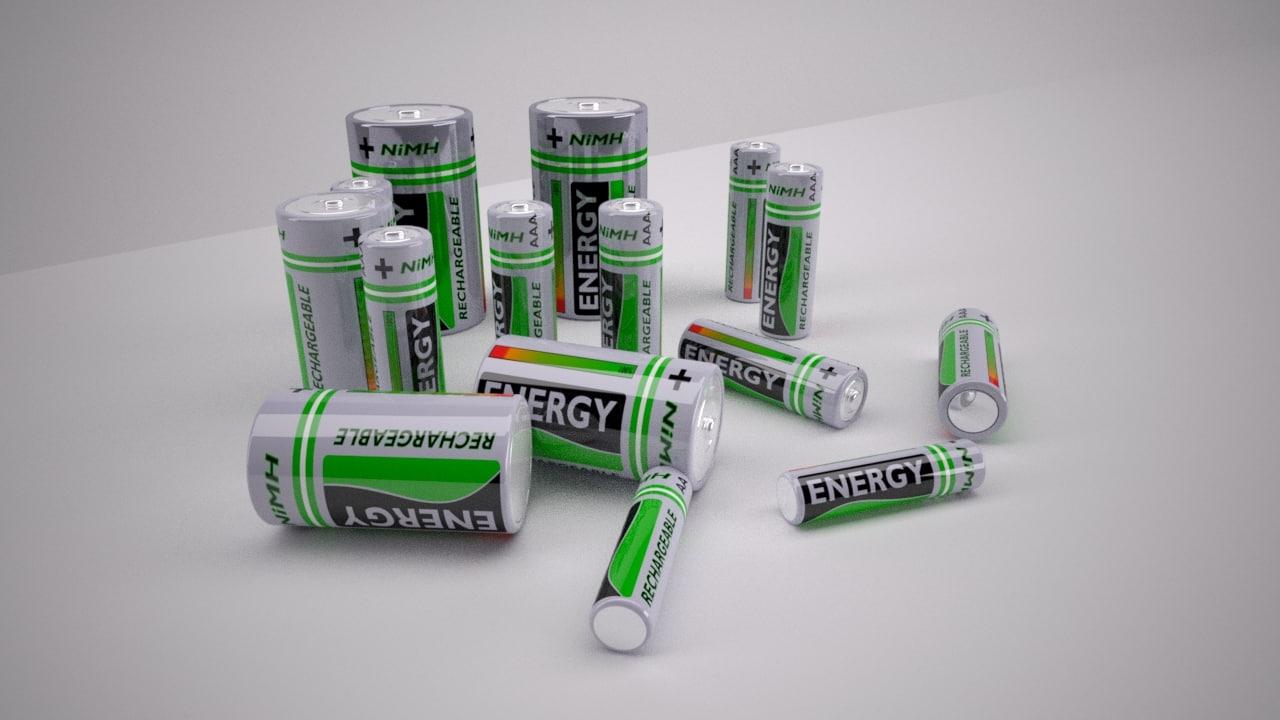 3d max nimh batteries