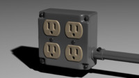 electrical junction box b 3d obj