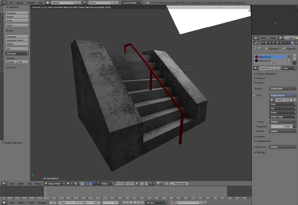 3d model stair set