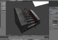 3d model stair set