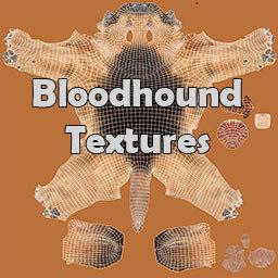 Bloodhound Black & Tan Fur Texture