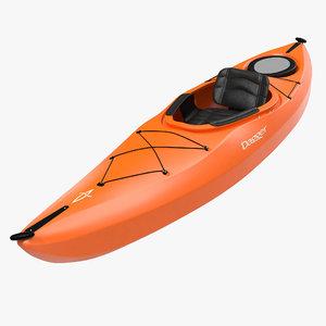 3d kayak orange model