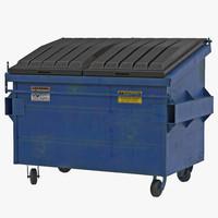 3d dumpster blue