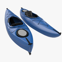 kayak generic modeled 3d max