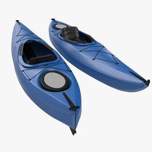 kayak generic modeled 3d max