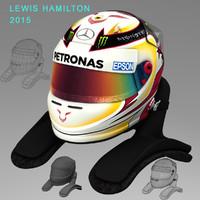 lewis hamilton helmet 2015 3d 3ds