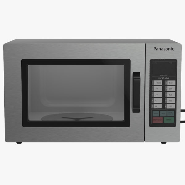 microwave oven panasonic modeled 3d model