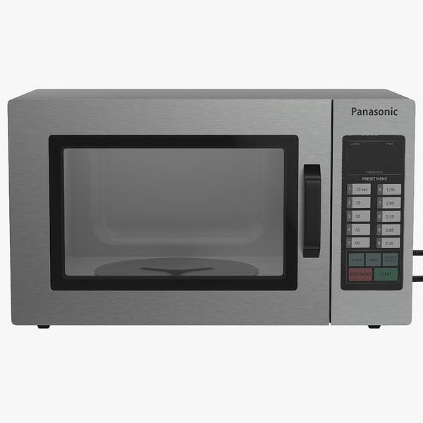 microwave oven panasonic modeled 3d model