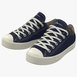 max sneakers 2 blue modeled