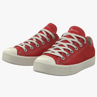 sneakers 2 red modeled 3d obj