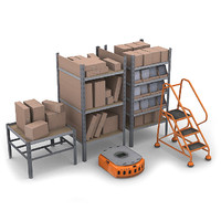 3d commercial warehouse pack