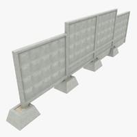 3dsmax concrete fences