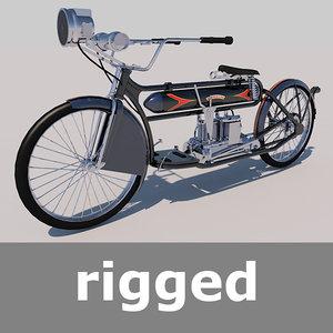 rigged henderson model-a 1912 3d model